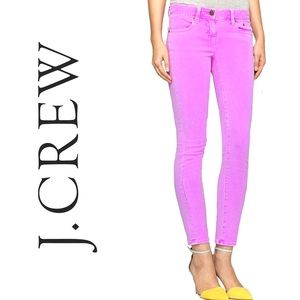 I. Crew Purple Toothpick Ankle Jeans